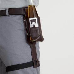 Perfect present for the boyfriend!-   Beer holster with bottle opener at RedEnvelope.com