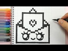 Account Suspended - Mine Minecraft World Graph Paper Drawings, Graph Paper Art, Easy Drawings, Pixel Art Simples, Easy Pixel Art, Pixel Art Photo, Image Pixel Art, Pixel Art Amour, Pixel Art Animals