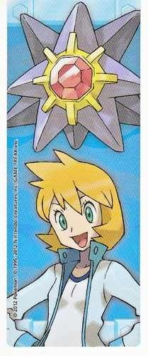 Pokemon Center 2012 Kanto Leaders Tournament Starmie Misty Bookmark