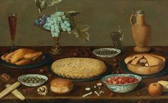 Unknown (Flemish) Still Life with Meat Pies and Roast Chicken 17th century