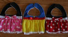 #Minnie mouse bib #snow white bib Custom Disney Bibs by LittleBlueDaisyShop on Etsy, $12.00