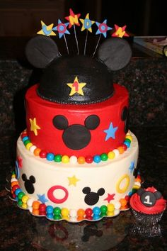 Tiered-Mickey Mouse-primary  www.facebook.com/sweetendingsbyj