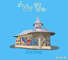Descoperă România de la A la Z | Voroneț | ilustrație Voroneț 1 Decembrie, Gazebo, Clock, Classroom, Outdoor Structures, Wall, Home Decor, Watch, Class Room
