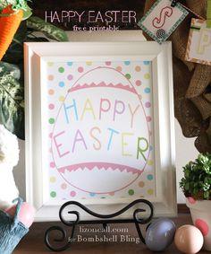 "Free ""Happy Easter"" Printable"