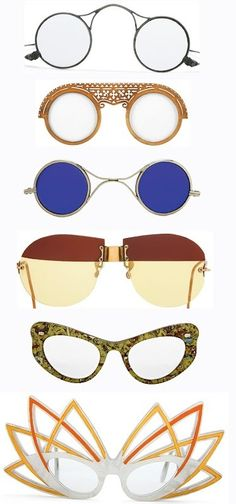 Beautiful vintage sunnies in all shapes and sizes!