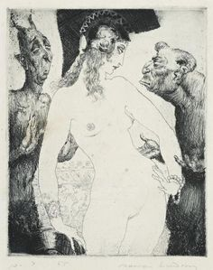 Wisdom's Devils by Norman Lindsay. Medium: Etching, engraving, stipple and foul biting; Norman Lindsay, Faber Castell, Image Halloween, Image Fruit, Copic, Image Nature, Etching Prints, Images Vintage, Scratchboard
