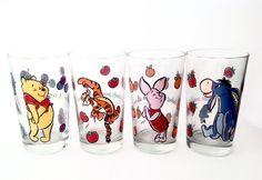 Vintage Libbey Winnie the Pooh Glasses - by VintageModernHip on Etsy