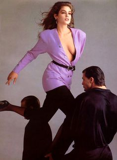 CINDY CRAWFORD  Gianni Versace Ad  1980s  Photo: Avedon- low neckline (Jessica Ng)