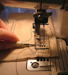 Cover Stitch: Removing the fabric