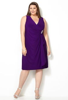 the plus size EMBELLIS FAUX WRAP for that special holiday party you have been yearning to be the centre of attraction