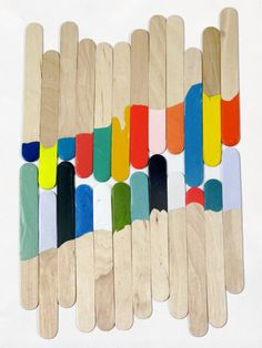 Who would have thought paddle pop sticks could look arty!