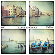 great price for 4 beautiful photos! ON SALE Decorating Ideas  Venice ttv 8x8 20x20cm set by magnesina, $45.00