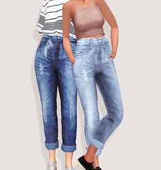 Pure Sims: Mom`s jeans • Sims 4 Downloads