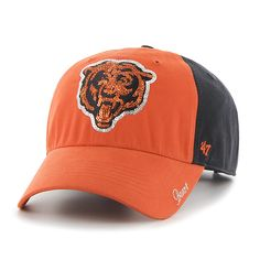 49560c04475ce Chicago Bears Sparkle Two Tone Clean Up Navy 47 Brand Womens Hat