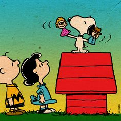 Snoopy puts on a show