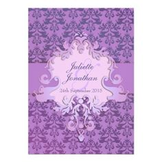 ShoppingElegant elephant damask purple wedding invitationyou will get best price offer lowest prices or diccount coupone