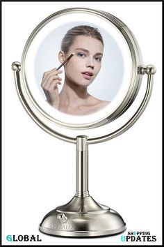 Makeup Mirror With Lights, Beauty Uk, Cosmetics, Led, Pearls, Perfect Brows, Beads, Gemstones, Pearl