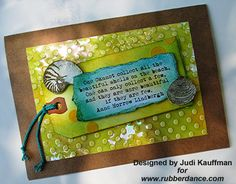 Rubber Dance Art Stamps: Summer Trio by Guest Designer Judi Kauffman (click to see the blog post)