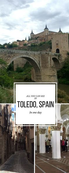 Discover all you can see in Toledo Spain in one day. Toledo is a beautiful medieval town and the perfect destination for a day trip from Madrid: discover Toledos must see attractions and practical advice on how to make the most of one day in Toledo Spain Spain Travel Guide, Europe Travel Tips, European Travel, Oh The Places You'll Go, Cool Places To Visit, Places To Travel, Valencia, Toledo Spain, Toledo Madrid