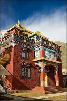 Lhagang. One of the many beautiful buildings of Lhagang Gompa.