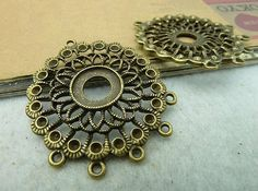 10pcs of Antique Bronze Cameo Bases Charm for 12mm by ministore, $4.85