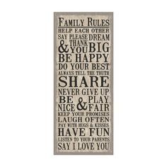 Family Rules Wall Decor | TARGET $20