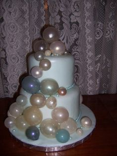How to make Gelatin bubbles for cakes