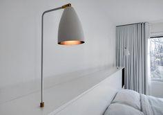 Schlafzimmer Kopfteil Idee integrieren Nachttisch Tisch Lampen in Ihrem Kopfteil