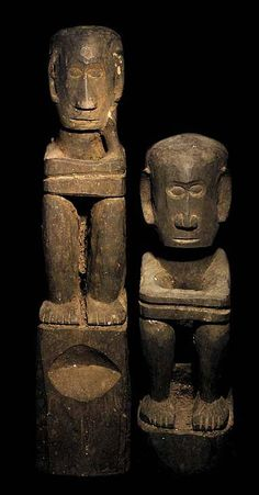 TRIBAL ART ~ IFUGAO BULUL RICE GOD STATUE--The Ifugao tribe in the Philippines use 'Bulul' Statues as Guardians to protect the rice harvest, after a ritual animal sacrifice.