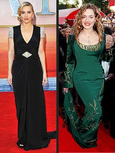 Kate Winslet has come a LONG way from the Oscars, nominated for the original Titanic, to the Titanic 3D premier 2012.  she's gorgeous and i love that black dress!