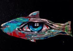 """Fisheye""  30x40 cm.  Acrylic on canvas  2015"