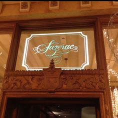 The Sazerac Bar located in The Roosevelt Hotel, New Orleans-check out the menu!