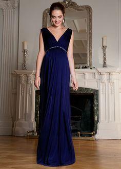 Anastasia Umstandsabendkleid (Eclipse Blue)