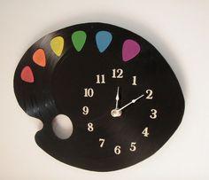 32. Guitar Pick Pallet Clock, $40   35 Clocks That Look Amazingly Not Like Clocks