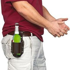 This is one of the best gifts for beer lovers or anybody that is hard to buy for. Leave the gun at home and holster up that beer. The Classic Beer Holster is an Funny Boyfriend Gifts, Funny Gifts For Him, Boyfriend Humor, Gifts For Beer Lovers, Beer Gifts, Gag Gifts, Best Gifts For Men, Gifts For Dad, Wine
