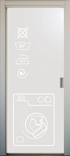 Vinilo translucido para puerta de cocina. El dibujo puede ser recortado o a color. #lovevinilos