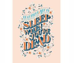 Sleep When You're Dead Poster
