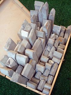 A Tale of Two Cities - Sharon Pazner Concrete, box. Sculpture art. Really like this ;)