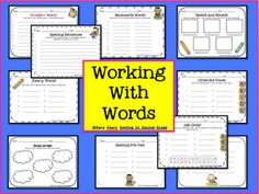 Spelling and Word Work Sheets