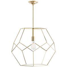 "Arteriors Home Mara 23 1/2"" Wide Polished Brass Pendant - #9X281 | Lamps Plus"