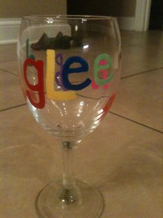 Handpainted GLee Wine Glass Party Favor Music Gift by KyGirlShop, $10.00