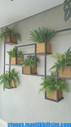 ideas for wall hanging plants indoor decor Vertical Garden Design, Herb Garden Design, Vertical Gardens, Herbs Garden, Wall Hanging Plants Indoor, Indoor Plants, Hanging Herbs, House Plants Decor, Plant Decor