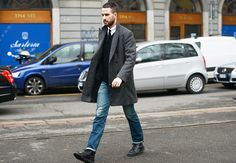 wool top coat - perfect for winter / men's style