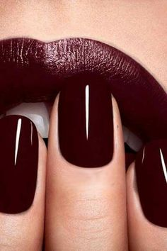 Gorgeous Burgundy Manicure Dior and lipstick combination (FALL) - Dior Lipstick - Ideas of Dior Lipstick. Trending Dior Lipstick - Gorgeous Burgundy Manicure Dior and lipstick combination (FALL) Fall Nail Colors, Nail Polish Colors, Lip Colors, Winter Colors, Winter Nails Colors 2019, Paint Colors, Red Nail Art, Polish Nails, Cute Nails