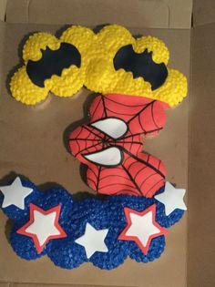 Superhero cupcake pull apart cake!!