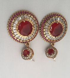 Sterling Silver Earrings ,Silver Earrings, Ruby Earrings ,Zircon Earrings ,Rosesilver Earrings by Rosestyle on Etsy