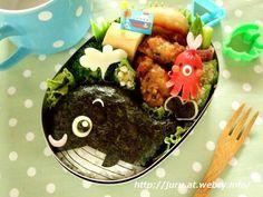 Whale bento  #food #bento #cute