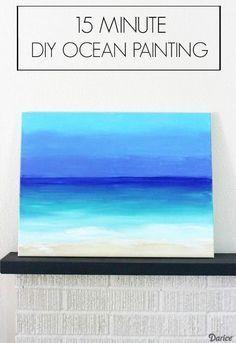 DIY Ocean Painting with Darice