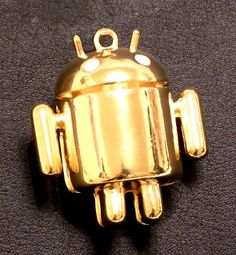Cute gold ANDROID figure.