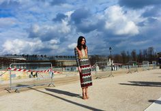 Leila Yavari in Valentino from Paris fashion week.